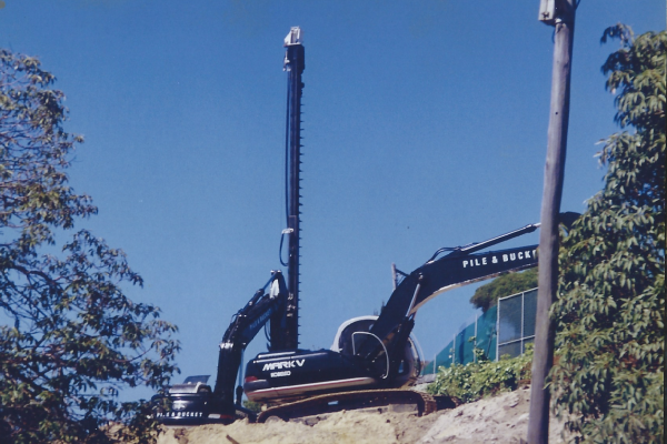 Custom designed and built drilling and piling towers at Birriga Road Bellevue Hill