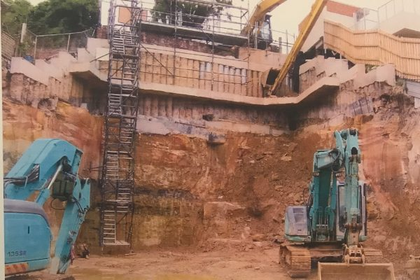 Deep excavation, drilling and piling at Benelong Crescent in Bellevue Hill