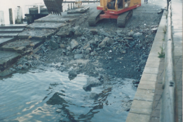 Demolition, drilling, piling, precasting and associated works at Rose Bay boat ramp