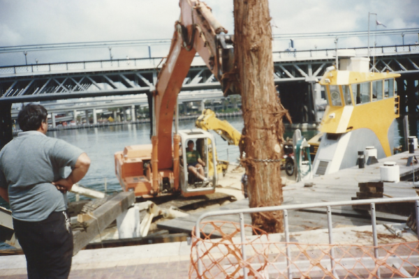 Drilling and piling at Darling Harbour