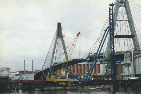 Drilling, piling and associated works below The Anzac Bridge