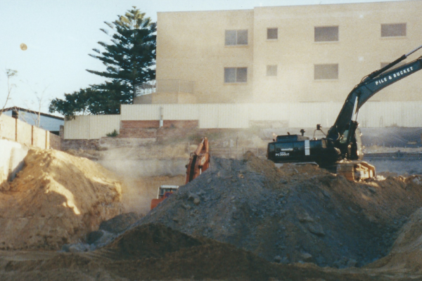 Engineering design, drilling, piling, anchoring, capping beam, rock & sand excavation and certification in Bondi