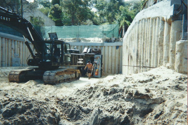 Engineering design, drilling, piling, excavation and certification at Maroubra