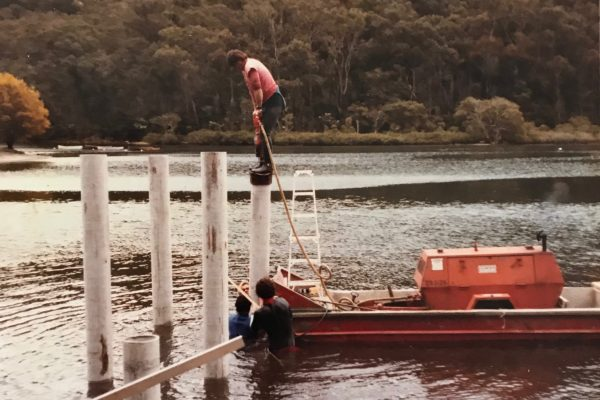 Piling in McCarrs Creek Pittwater
