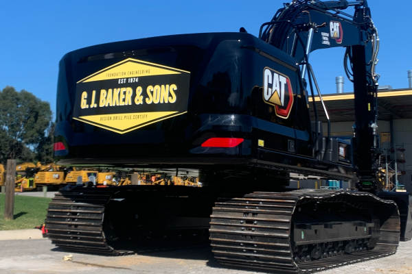 We own current model excavators with custom designed drilling towers