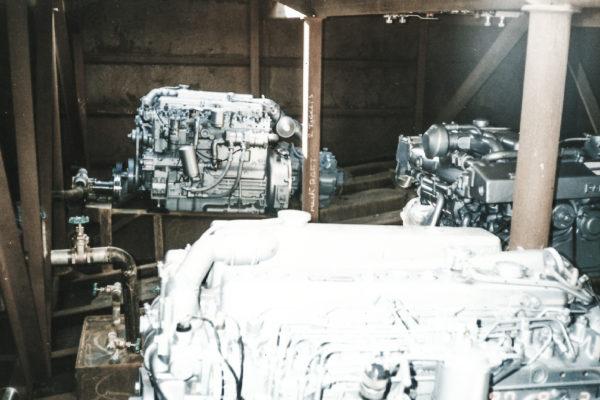 Barge engine room under construction