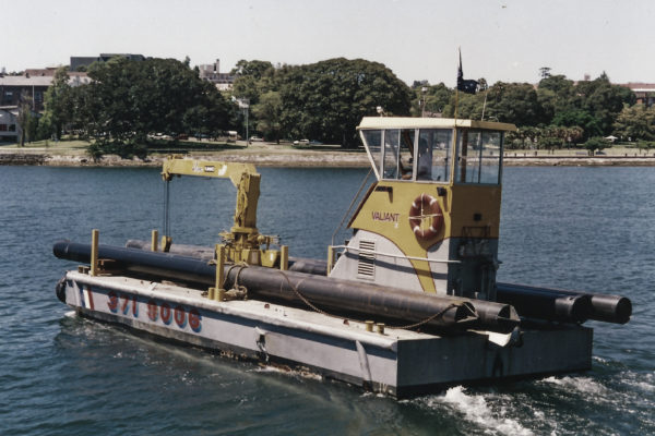 Pile transportation Sydney Harbour