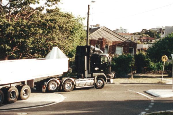 Volvo prime mover and semi trailer